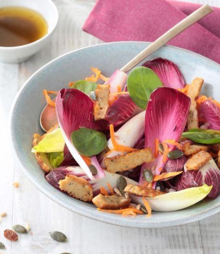 Salade santé et émincés « Côté Végétal » aux herbes de Provence