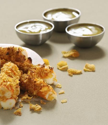 Stick de Surimi frits aux pétales de maïs