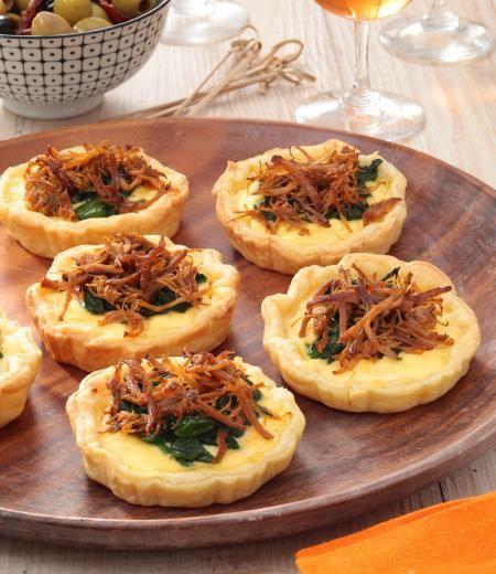 Tartelette épinards, ricotta et Effilochés de Porc