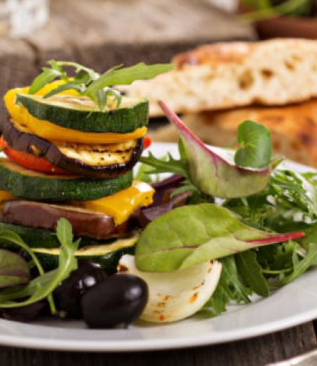 Millefeuille de légumes grillés