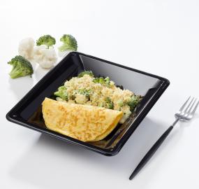 Omelette au fromage gratin de chou-fleur et brocolis