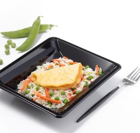Omelette riz cantonnais pauvre en sel